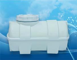 مخزن و منبع افقی خوابیده 250 لیتری پلی اتیلن و پلاستیکی ضد جلبک