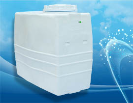 مخزن یا منبع 1000 لیتری مکعبی یا کتابی پلاستیکی و پلی اتیلنی آسان رو