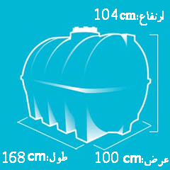 منبع 1000 لیتری پلاستیکی ، ابعاد مخزن 1000 لیتری افقی
