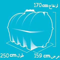 منبع 4000 لیتری پلاستیکی