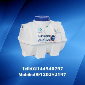 منبع پلاستیکی 100 لیتری افقی
