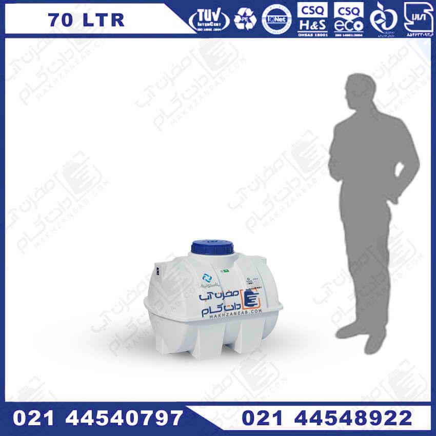 منبع پلاستیکی 70 لیتری افقی