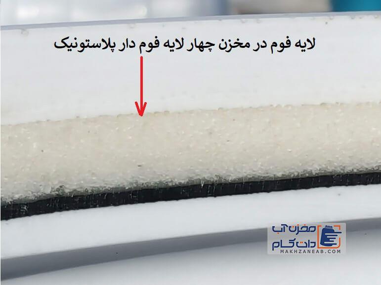 مخزن 4 لایه فوم دار پلاستونیک مقاوم در برابر یخ زدگی