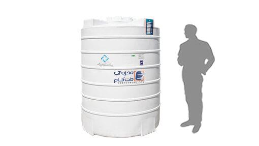 منبع آب پلی اتیلن 2000 لیتری