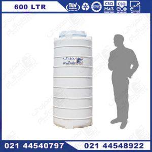 مخزن آب پلی اتیلن 600 لیتری باریک
