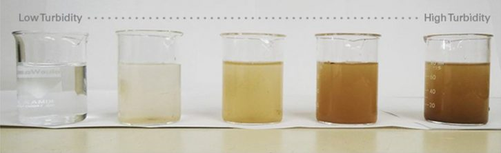 کدر و غیر شفاف بودن آب